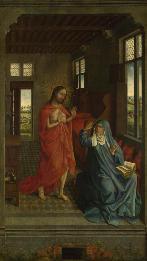 Christ appearing to the Virgin | Follower of Rogier van der Weyden | oil painting