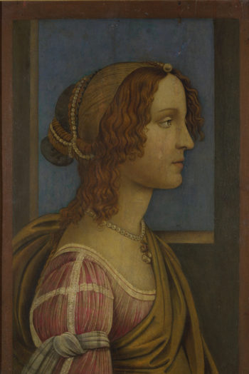 A Lady in Profile | Follower of Sandro Botticelli | oil painting
