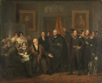 The acceptance of the Supreme Government by the Triumvirate in the name of the Prince of Orange