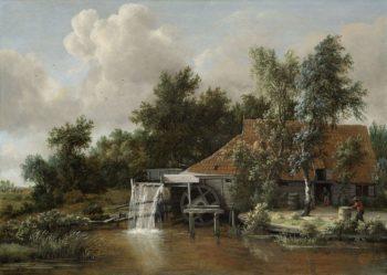 A Watermill. ca. 1664 | Meindert Hobbema | oil painting