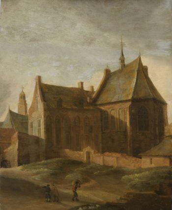The Agnes Convent in Utrecht. 1650 - 1658   Pieter des Ruelles   oil painting
