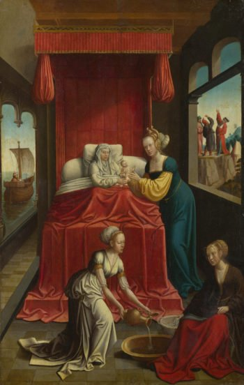 The Birth of the Virgin | Netherlandish | oil painting
