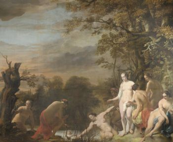 Pharaoh's daughter finds Moses in the bulrushes.. 1655 - 1669 | Ferdinand Bol | oil painting