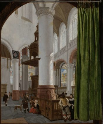 Interior of the Old Church in Delft. 1654 | Gerard Houckgeest | oil painting