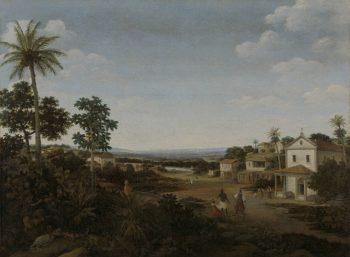 Landscape in Brazil. 1644 - 1680 | Frans Jansz. Post | oil painting
