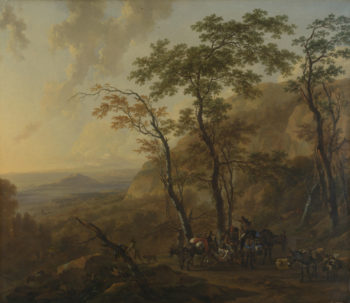 Mountainous Landscape with Muleteers | Nicolaes Berchem | oil painting