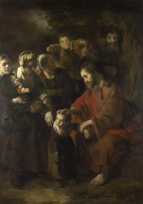 Christ blessing the Children | Nicolaes Maes | oil painting