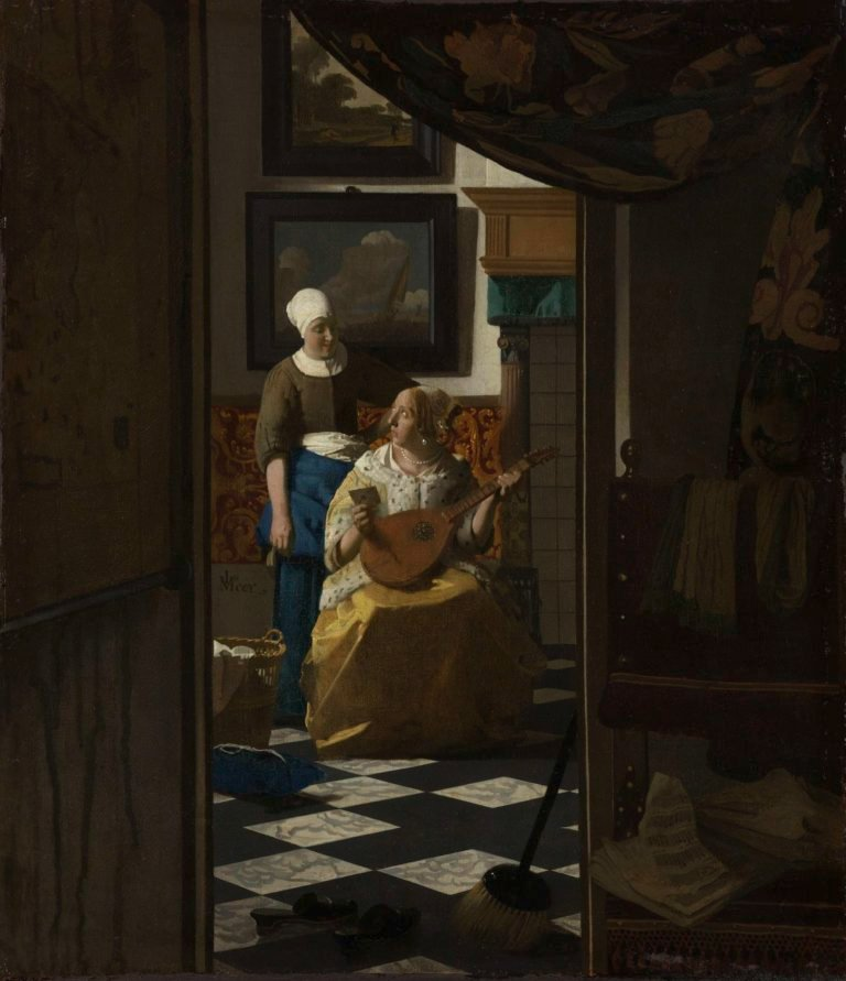 The Love Letter. ca. 1669 - ca. 1670 | Johannes Vermeer | oil painting