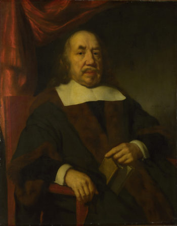 Portrait of an Elderly Man in a Black Robe | Nicolaes Maes | oil painting