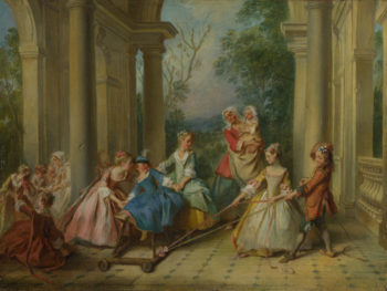 The Four Ages of Man Childhood | Nicolas Lancret | oil painting