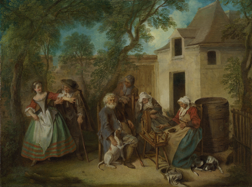 The Four Ages of Man Old Age | Nicolas Lancret | oil painting
