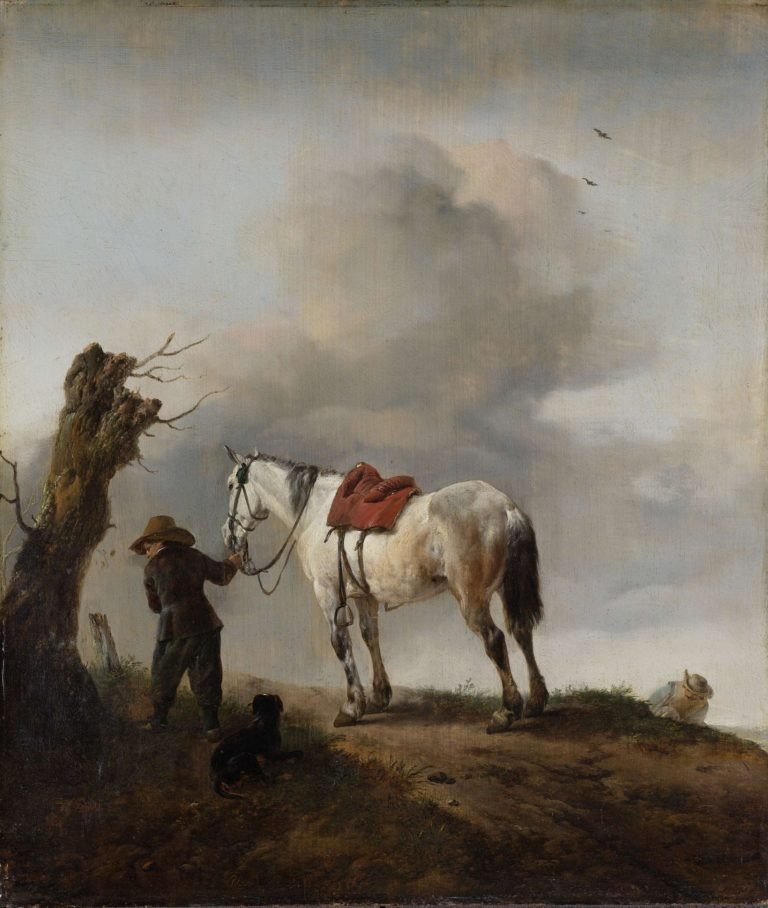 The Grey Horse. ca. 1646 | Philips Wouwerman | oil painting