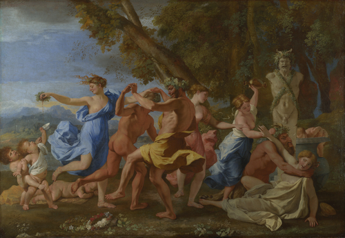 A Bacchanalian Revel before a Term   Nicolas Poussin   oil painting