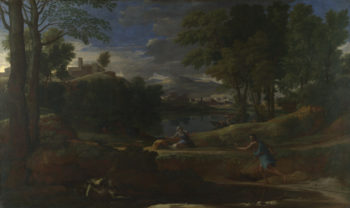 Landscape with a Man killed by a Snake   Nicolas Poussin   oil painting