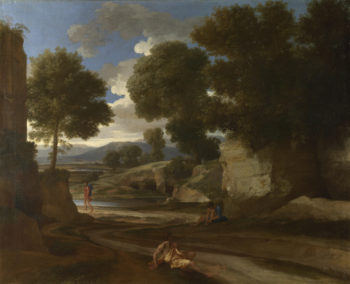 Landscape with Travellers Resting   Nicolas Poussin   oil painting