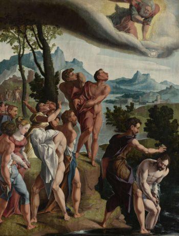 The Baptism of Christ. ca. 1535 | Jan van Scorel | oil painting