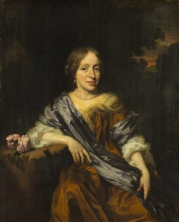 Catharina Pottey (1641-1718). Sister of William and Sarah Pottey. 1661 - 1693 | Nicolaes Maes | oil painting