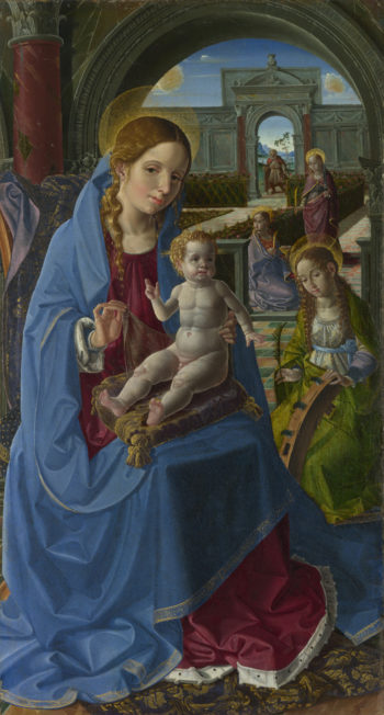 The Virgin and Child with Saints | Paolo da San Leocadio | oil painting