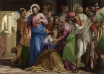 Christ addressing a Kneeling Woman | Paolo Veronese | oil painting