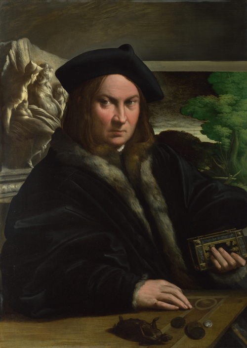 Portrait of a Collector | Parmigianino | oil painting