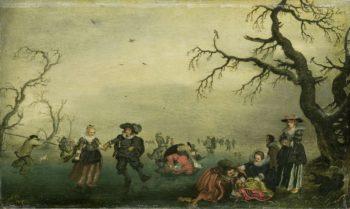 Skaters. 1625 | Adriaen Pietersz. van de Venne | oil painting