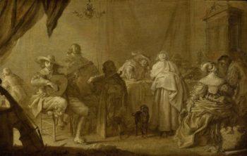 Music Rend company. ca. 1635 - ca. 1645 | Adriaen Pietersz. van de Venne | oil painting
