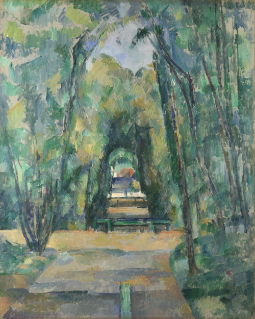 Avenue at Chantilly | Paul Cezanne | oil painting