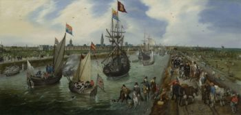 The Departure of a Dignitary from Middelburg. 1615 | Adriaen Pietersz. van de Venne | oil painting