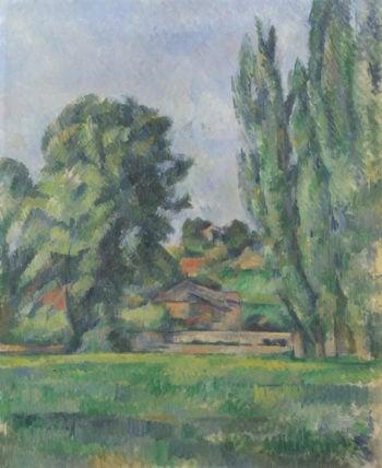 Landscape with Poplars | Paul Cezanne | oil painting