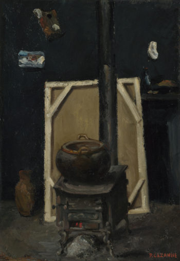 The Stove in the Studio | Paul Cezanne | oil painting