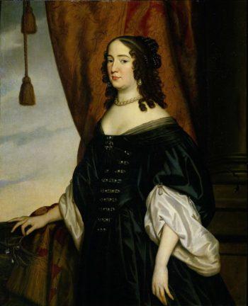 Portrait of Amalia van Solms (1602-75). 1650 | Gerard van Honthorst | oil painting