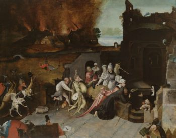 The Temptation of Saint Anthony the Hermit. ca. 1530 - ca. 1600 | Jheronimus Bosch | oil painting