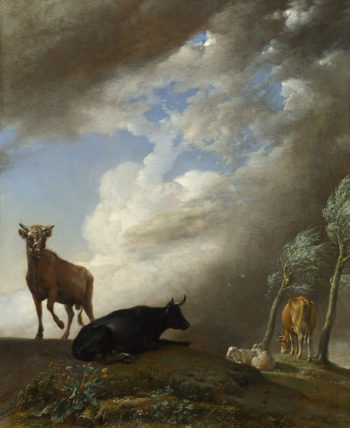 Cattle and Sheep in a Stormy Landscape | Paulus Potter | oil painting