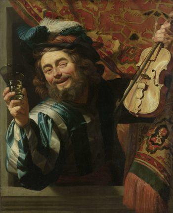 The Merry Fiddler. 1623   Gerard van Honthorst   oil painting