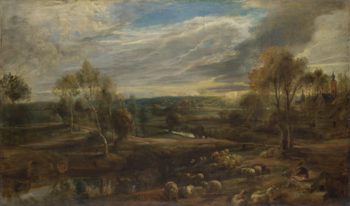 A Landscape with a Shepherd and his Flock | Peter Paul Rubens | oil painting