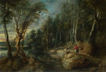 A Shepherd with his Flock in a Woody Landscape | Peter Paul Rubens | oil painting