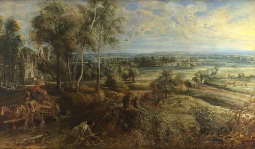 A View of Het Steen in the Early Morning   Peter Paul Rubens   oil painting