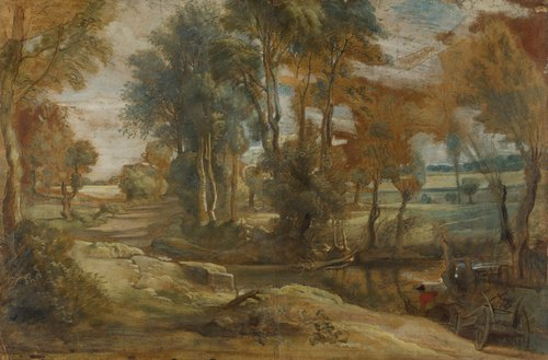 A Wagon fording a Stream | Peter Paul Rubens | oil painting