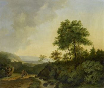 Face in the Harz Mountains. 1840 | Cornelis Fran?ois Roos | oil painting