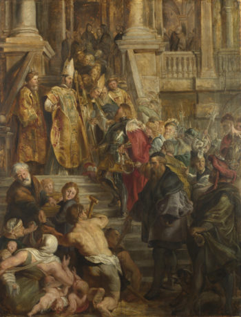 Saint Bavo is received by Saints Amand and Floribert | Peter Paul Rubens | oil painting