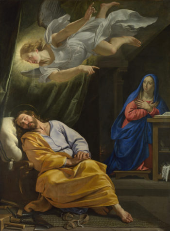The Dream of Saint Joseph | Philippe de Champaigne | oil painting