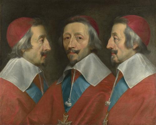 Triple Portrait of Cardinal de Richelieu | Philippe de Champaigne and studio | oil painting