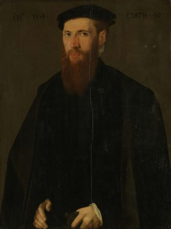 Portrait of Willem van Lokhorst (1514-64). 1554 | Jan van Scorel | oil painting