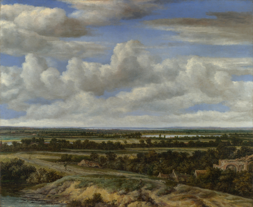 An Extensive Landscape with a Road by a River   Philips Koninck   oil painting