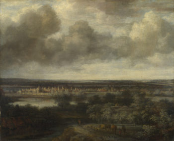 An Extensive Landscape with a Town | Philips Koninck | oil painting