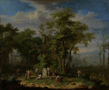 Arcadian Landscape with a Ceremonial Sacrifice. ca. 1700 - ca. 1749 | Jan van Huysum | oil painting
