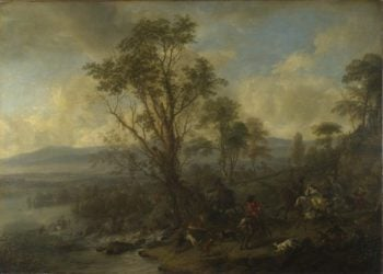 A Stag Hunt | Philips Wouwermans | oil painting