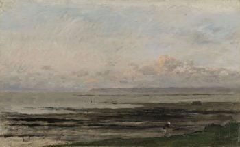 Beach at Ebb Tide. ca. 1850 - ca. 1878   Charles Fran?ois Daubigny   oil painting