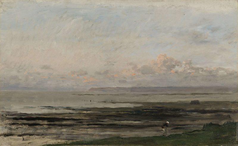 Beach at Ebb Tide. ca. 1850 - ca. 1878 | Charles Fran?ois Daubigny | oil painting