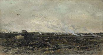 October. 1850 - 1878 | Charles Fran?ois Daubigny | oil painting
